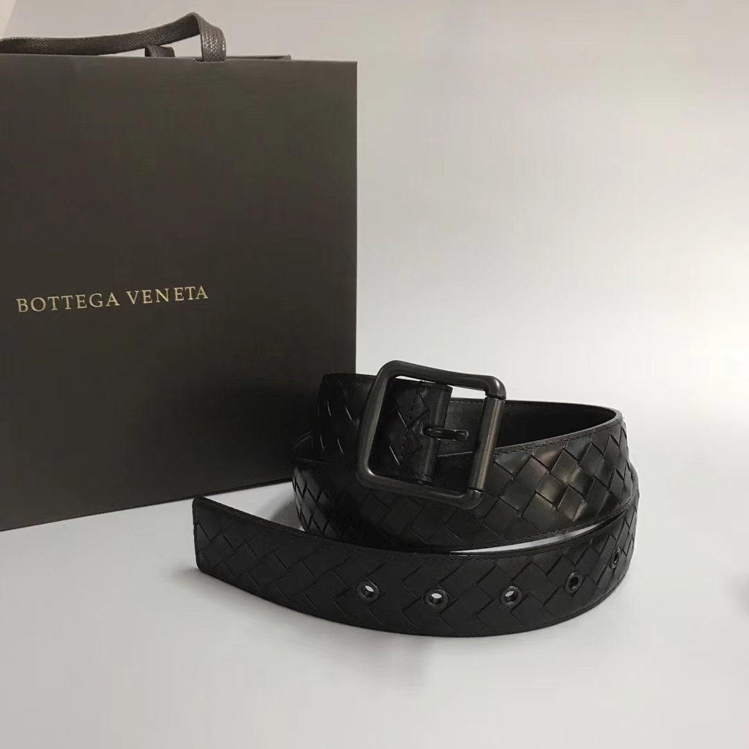 Bottega Veneta 宝缇嘉男士腰带 顶级胎牛皮 IP电镀五金