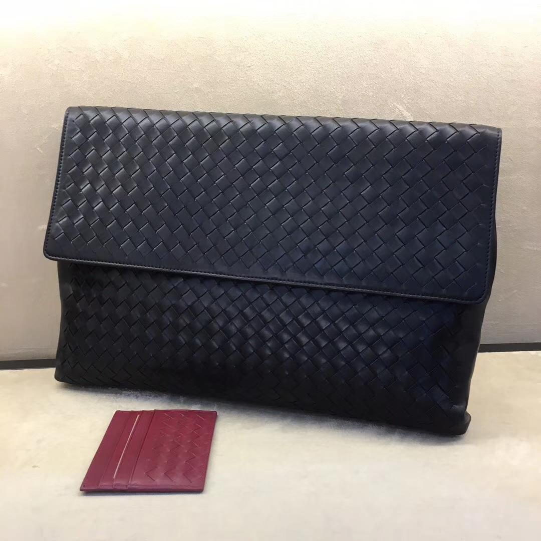 Bottega Veneta 宝缇嘉 #2297 新款男士手包 原版胎牛皮 35*3.5*22cm 厂家直销