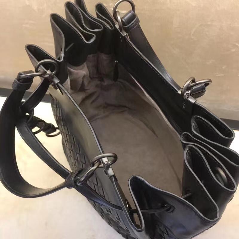 Bottega Veneta 宝缇嘉 2289#标志性编织 原版胎牛皮 水桶包 25cm