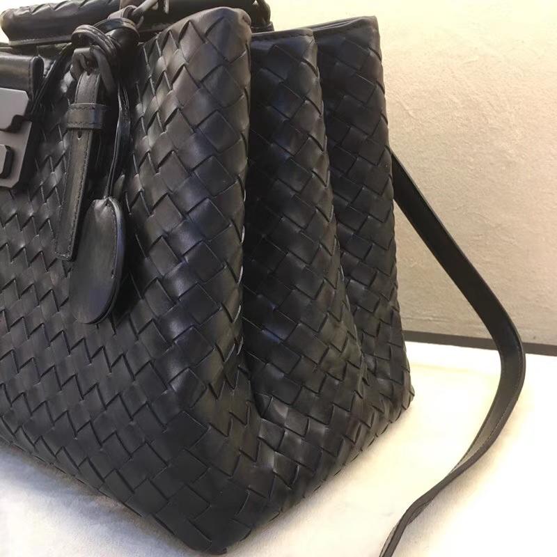 Bottega Veneta 宝缇嘉  Roma 专柜同步 编织罗马包 黑色 小号30cm