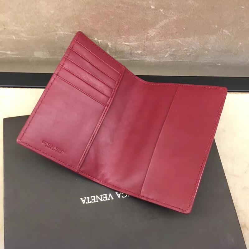 广州厂家直销 080对折款护照本 顶级胎牛皮 经典编织 13.5cm