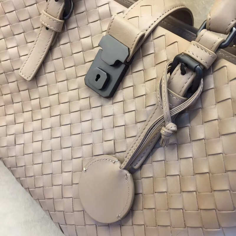 Bottega Veneta 宝缇嘉 BV 7453 罗马包 进口胎牛皮  30cm 大象灰