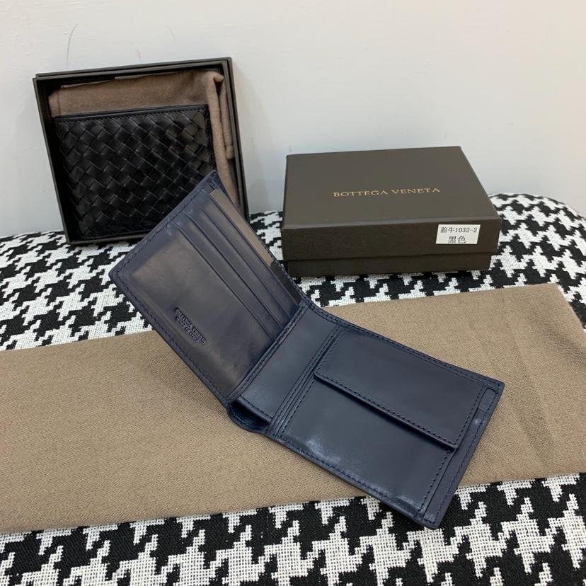 代购版1032顶级原版胎牛皮 内里进口布料 有零钱袋 经典款短夹