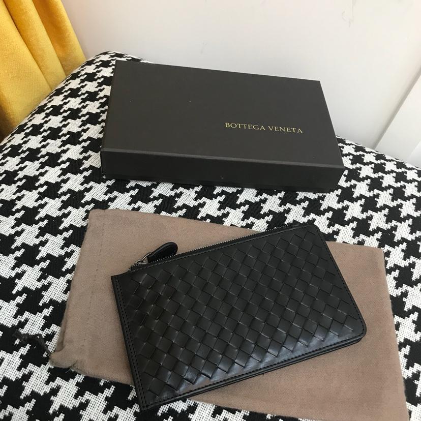 代购版1031顶级原版胎牛皮 多卡位卡包 黑色18cm