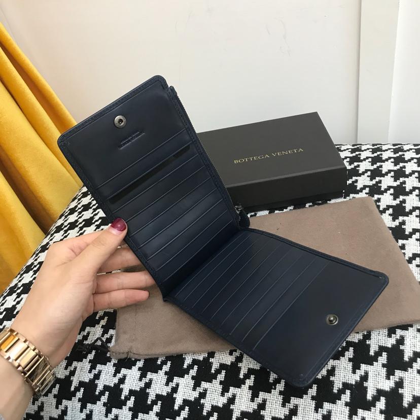 代购版1031顶级原版胎牛皮 多卡位卡包 深蓝色 18cm