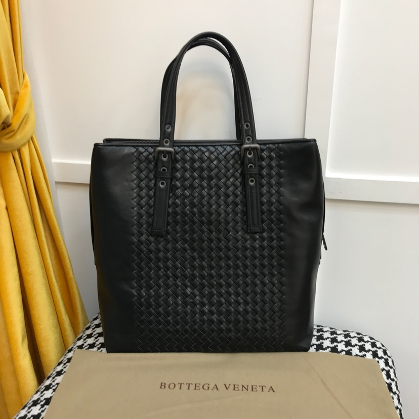 代购版9231 新款男式手提包 黑色 顶级原版牛皮 33cm