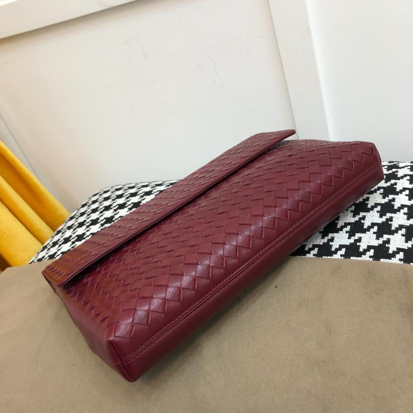 宝缇嘉 代购版9180官网最新款手包 顶级原版胎牛皮内里原版布 小号29cm