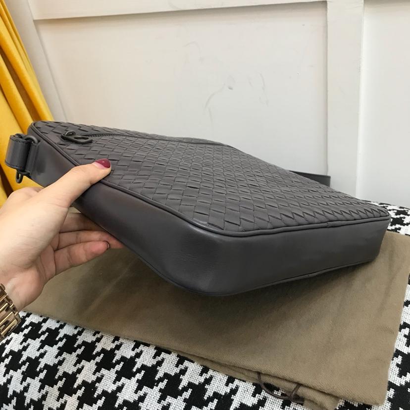 BV编织包 代购版9206顶级原版胎牛皮 26.5cm男士斜挎包