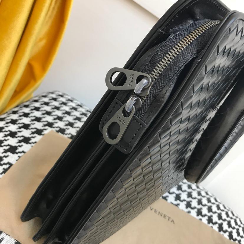 代购版6943  顶级原版胎牛皮 bv公文式包 38cm 黑色