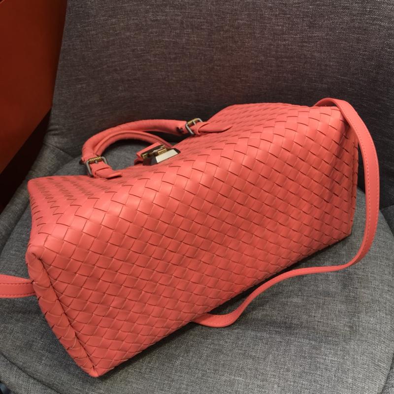 代购版新五金西瓜红色 小号Roma包 顶级原版胎牛皮 里原版羊皮手工编织 31cm