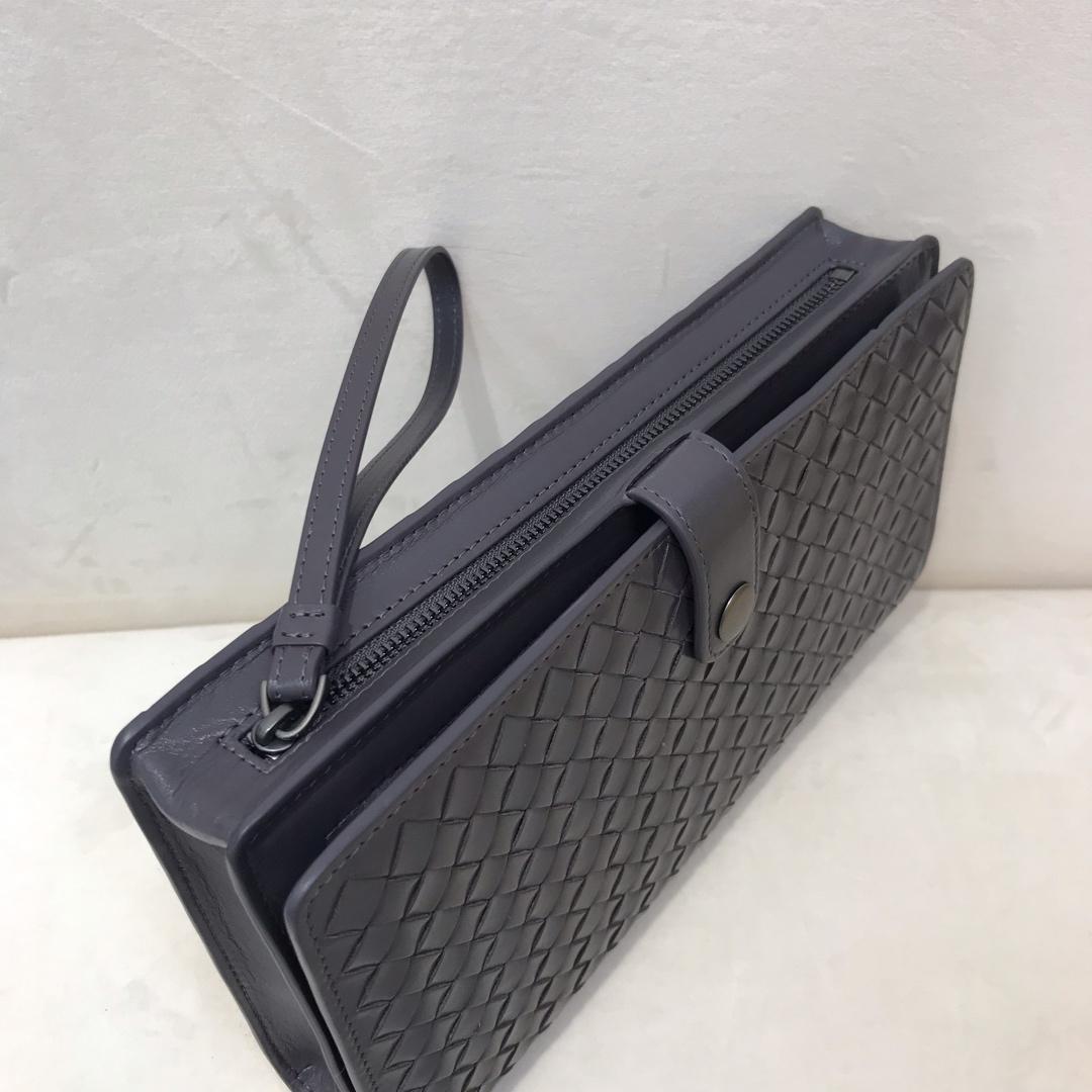 Bottega Veneta 宝缇嘉 代购9193顶级原版胎牛皮男士手包新款全编织 23cm