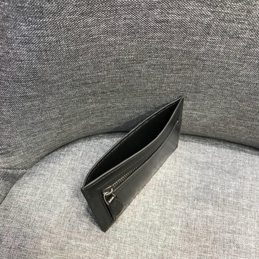 宝缇嘉 官方同步 代购版1023新款卡包原版胎牛皮 黑色