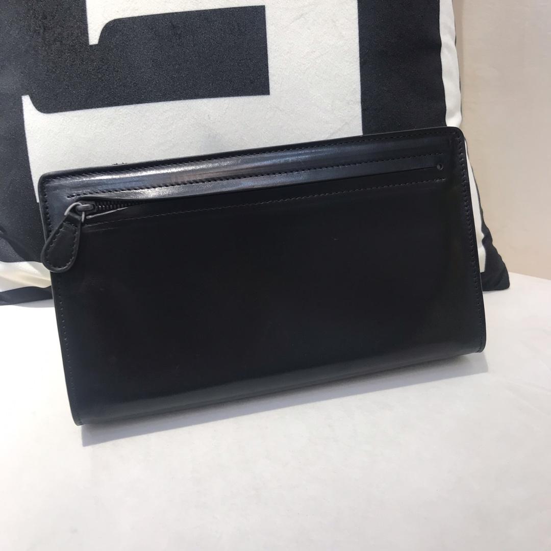 BV代购版8818顶级原版胎牛皮男士手包 可以放上万现金