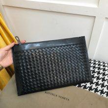 Bottega Veneta宝缇嘉 代购版9220顶级原版胎牛皮 秋冬最新款男士手包 33cm