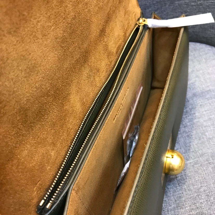 宝缇嘉Rondebag 进口牛皮制超大容量内层有拉链 28cm