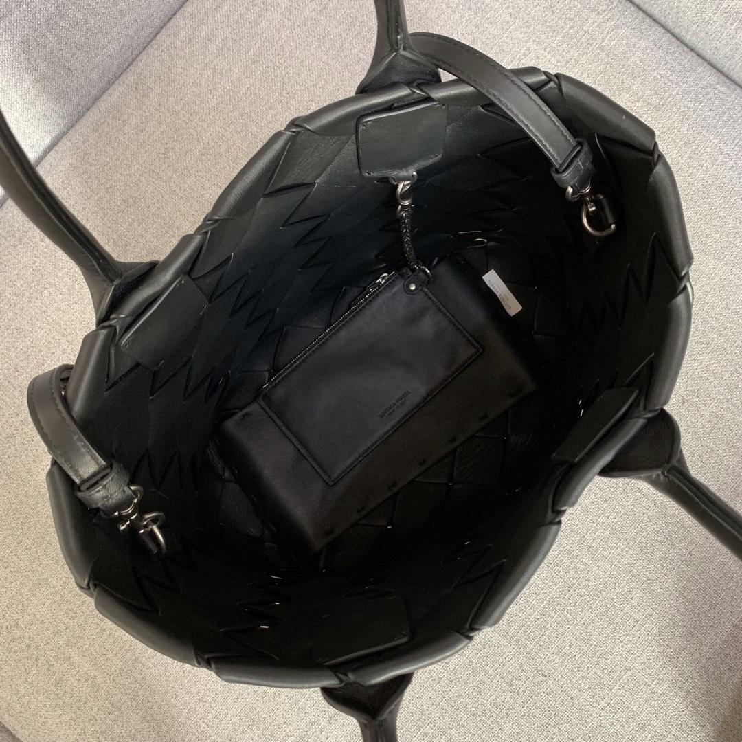 【P2850】BottegaVentea托特包 570800羊皮/黑色 29-35-13