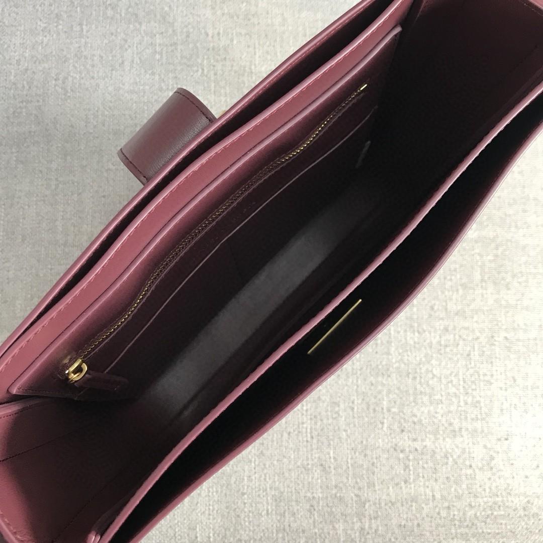 【P1880】BVMARIE秋冬新品 30×28×7.5 羊皮/酒红 578344 金扣
