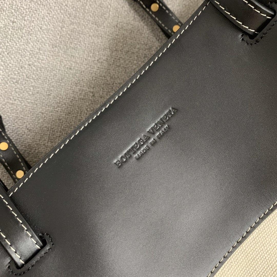【P980】BV 新款帆布冬天夏天都可以搭配的布袋编码578341 52-38-21麻布/黑色