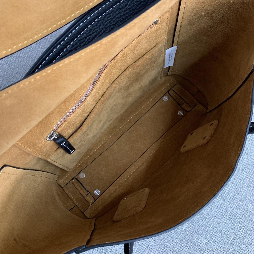 【P1400】Bv小号Arco购物袋 580725大象纹黑色 袋口33底22宽6高22(不含手柄)