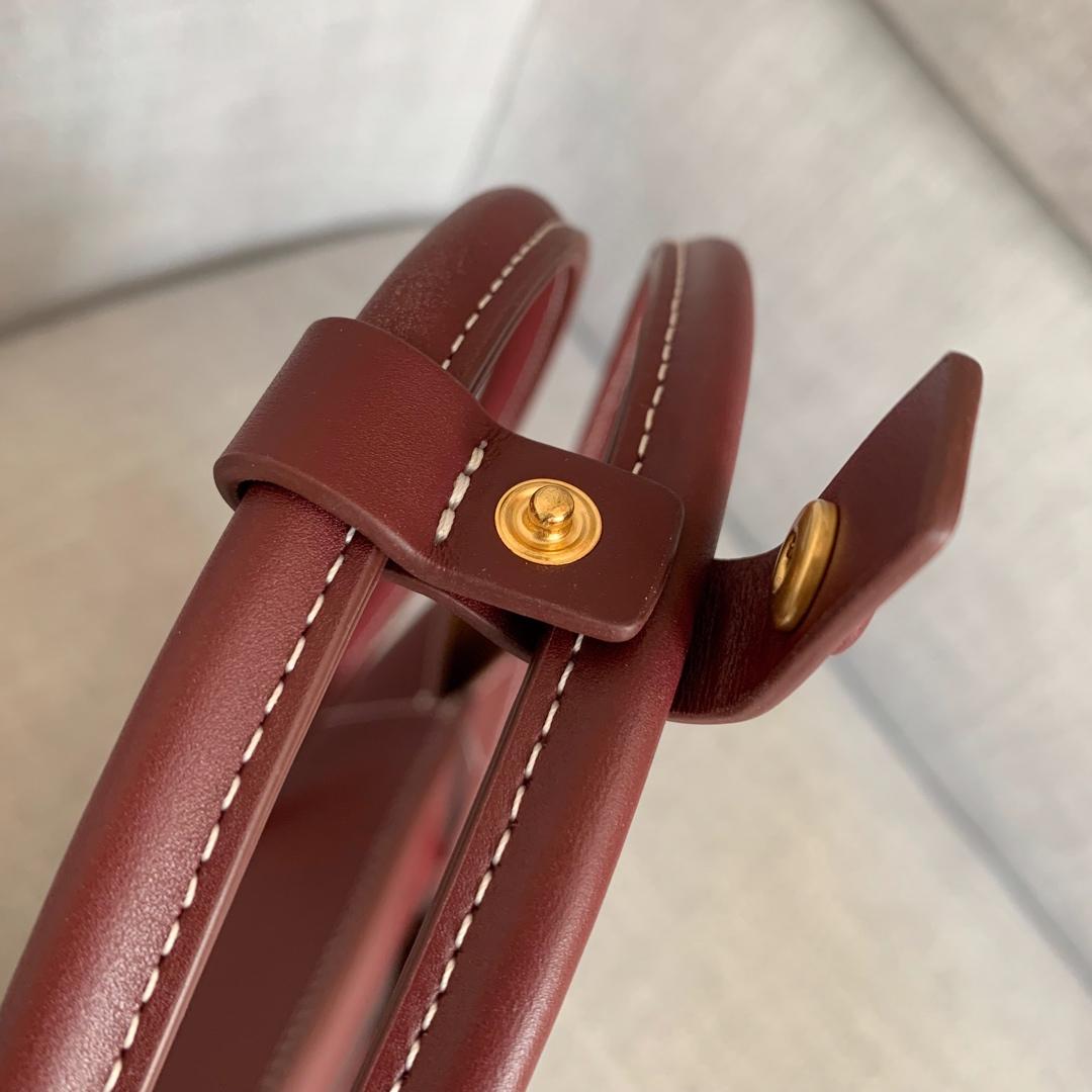 【P1400】Bv 小号Arco 580725A 平纹 酒红 袋口33 底22宽6高22 (不含手柄)