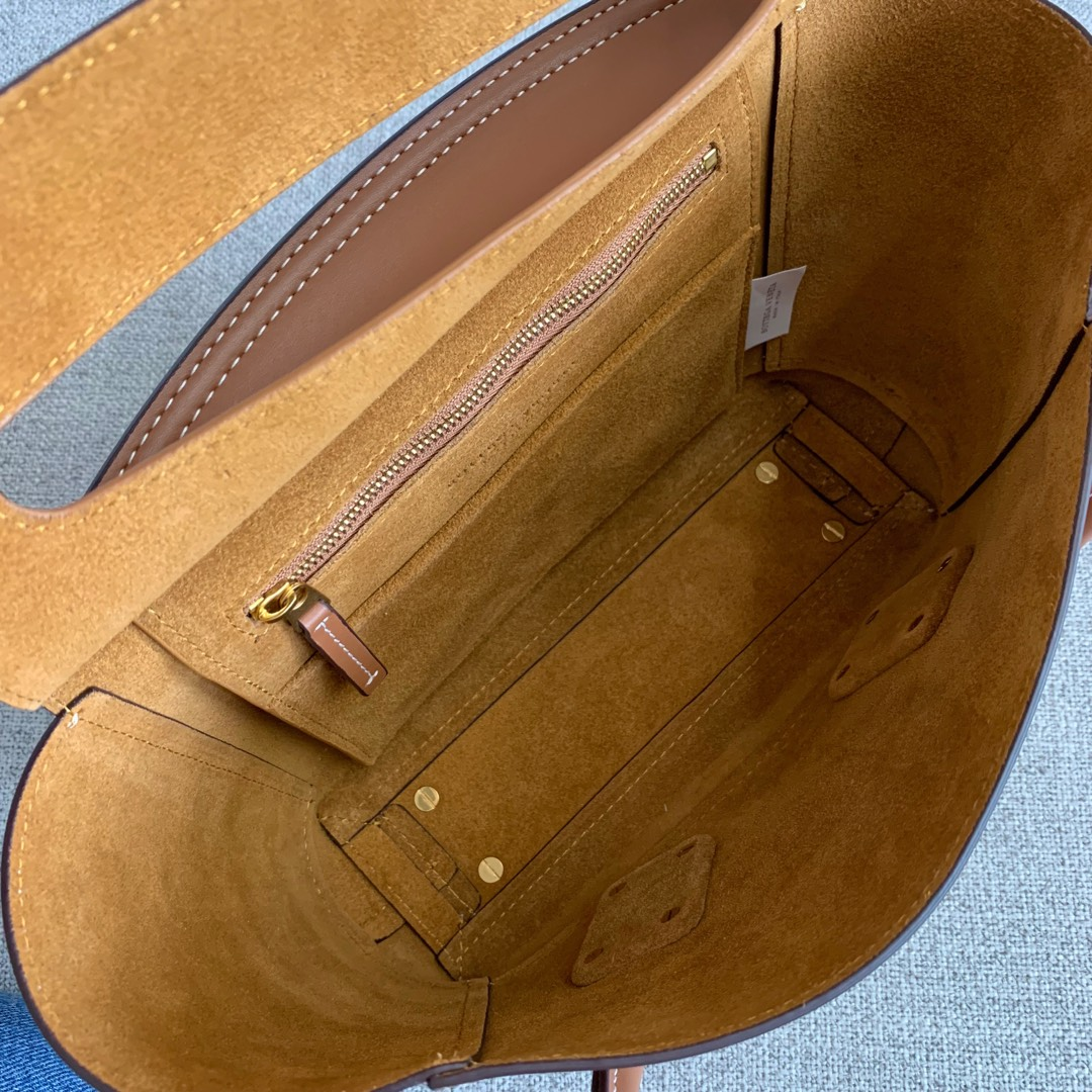 【P1400】Bv 小号Arco 580725A 平纹 土黄 袋口33 底22宽6高22 (不含手柄)