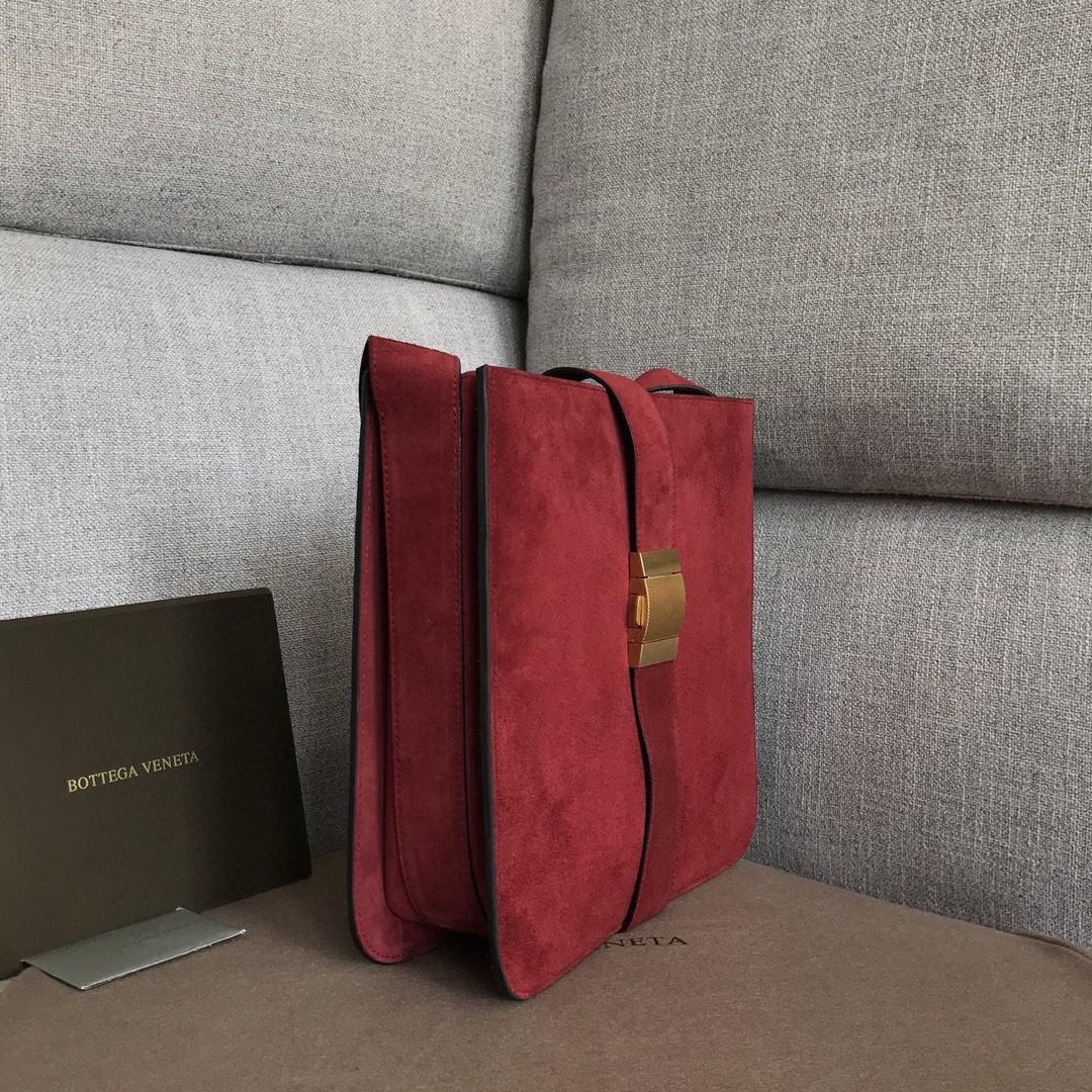 【P1880】BVMARIE秋冬新品 30×28×7.5 羊皮/猄皮 578344 波尔多红
