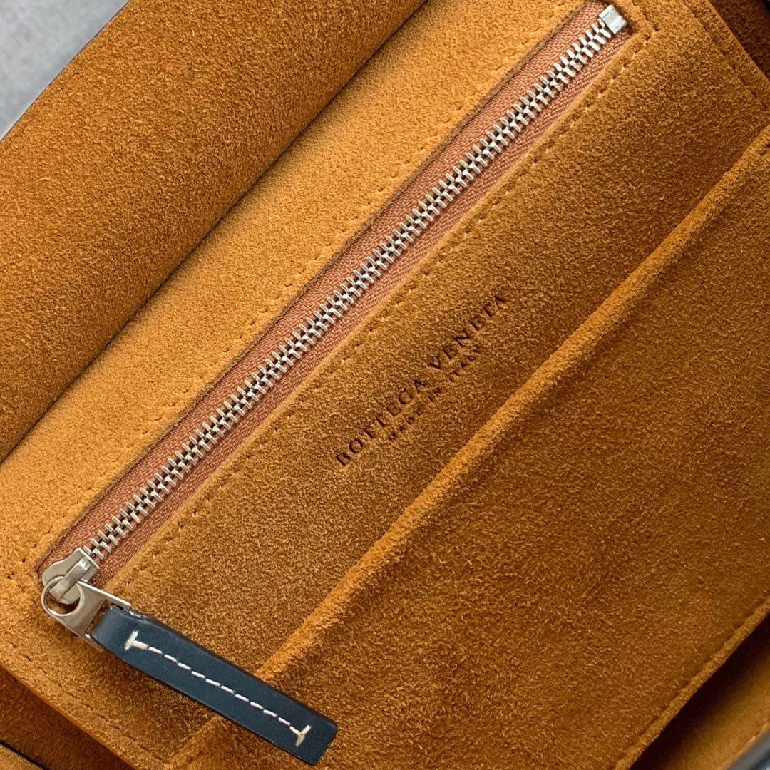 【P1400】Bv 小号Arco 580725A 平纹 深蓝色 袋口33 底22宽6高22 (不含手柄)