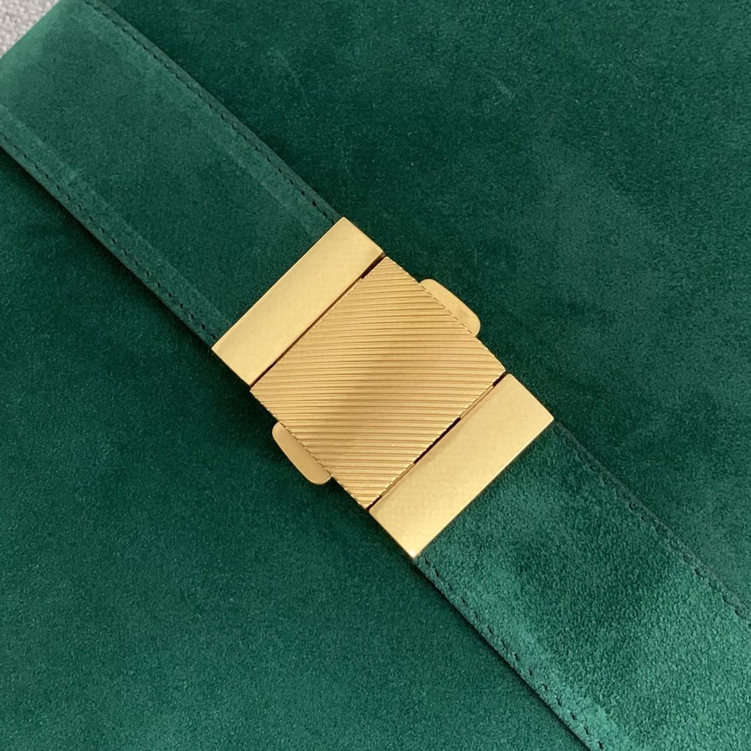 【P1880】BVMARIE秋冬新品 30×28×7.5 羊皮/猄皮 578344 翡翠绿