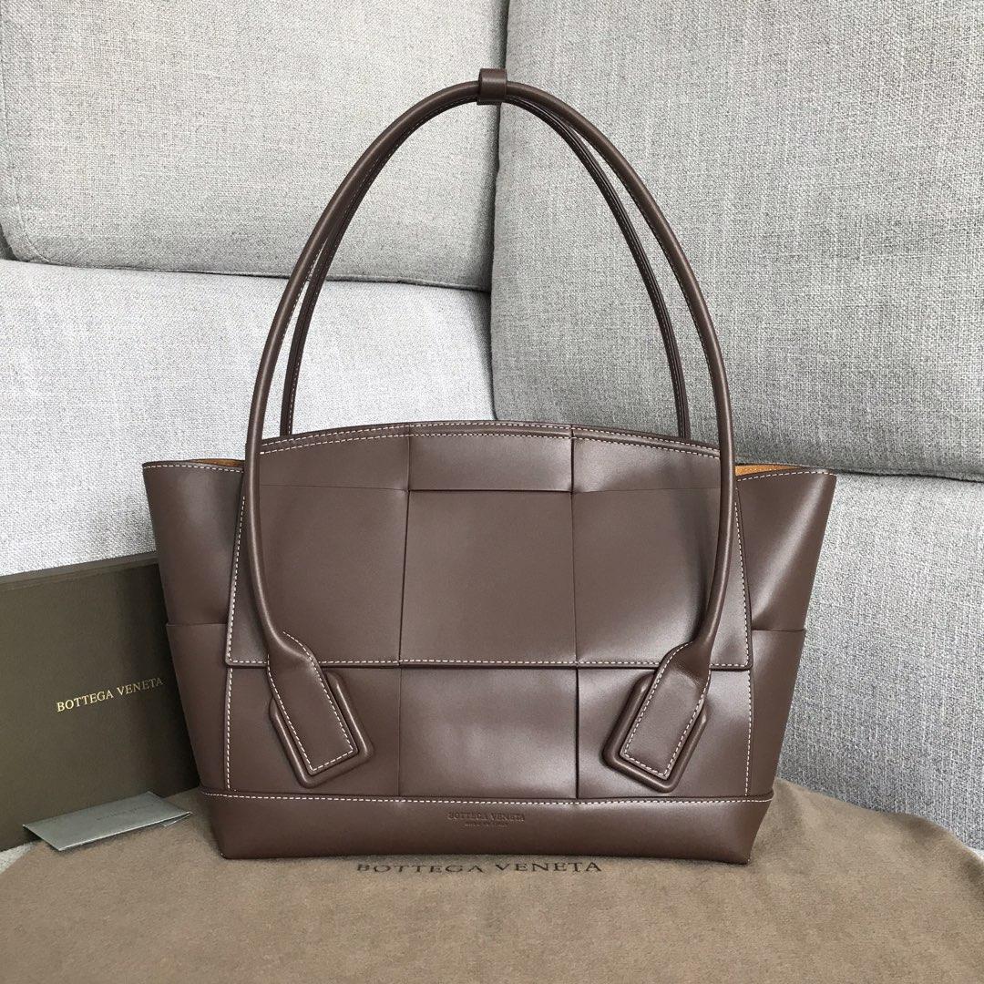 【P2400】Bv 中号Arco购物袋 575949 牛皮/棕色 袋口:48cm 32-12-24cm
