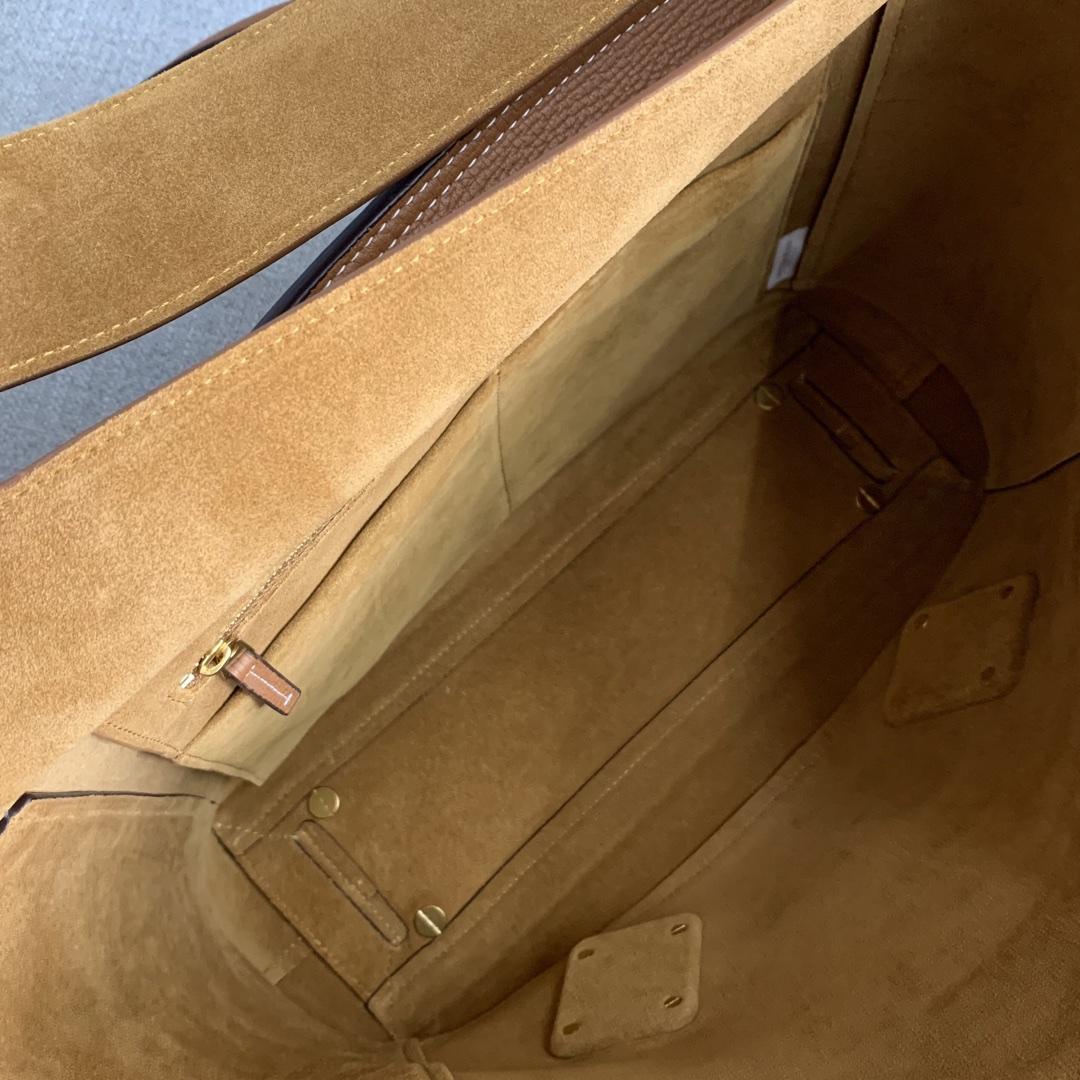 【P1800】BvbigArco购物袋 575941大象纹土黄 大号袋口48底32宽12高24(不含手柄)