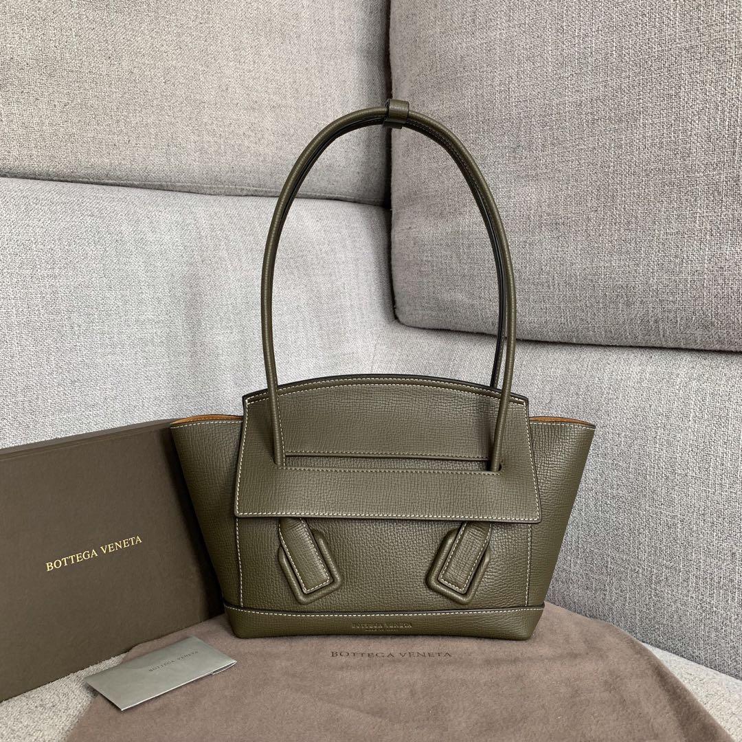 【P1400】Bv小号Arco购物袋 580725大象纹军绿 袋口33底22宽6高22(不含手柄)