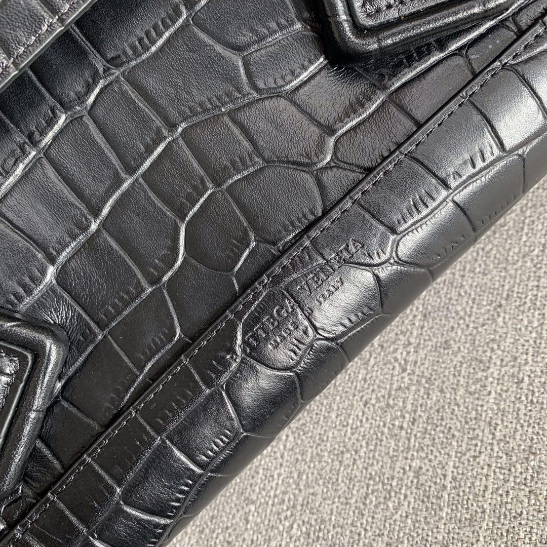 【P1800】Bv big Arco 575941鳄鱼纹黑色 大号尺寸:袋口48底32宽12高24(不含手柄)