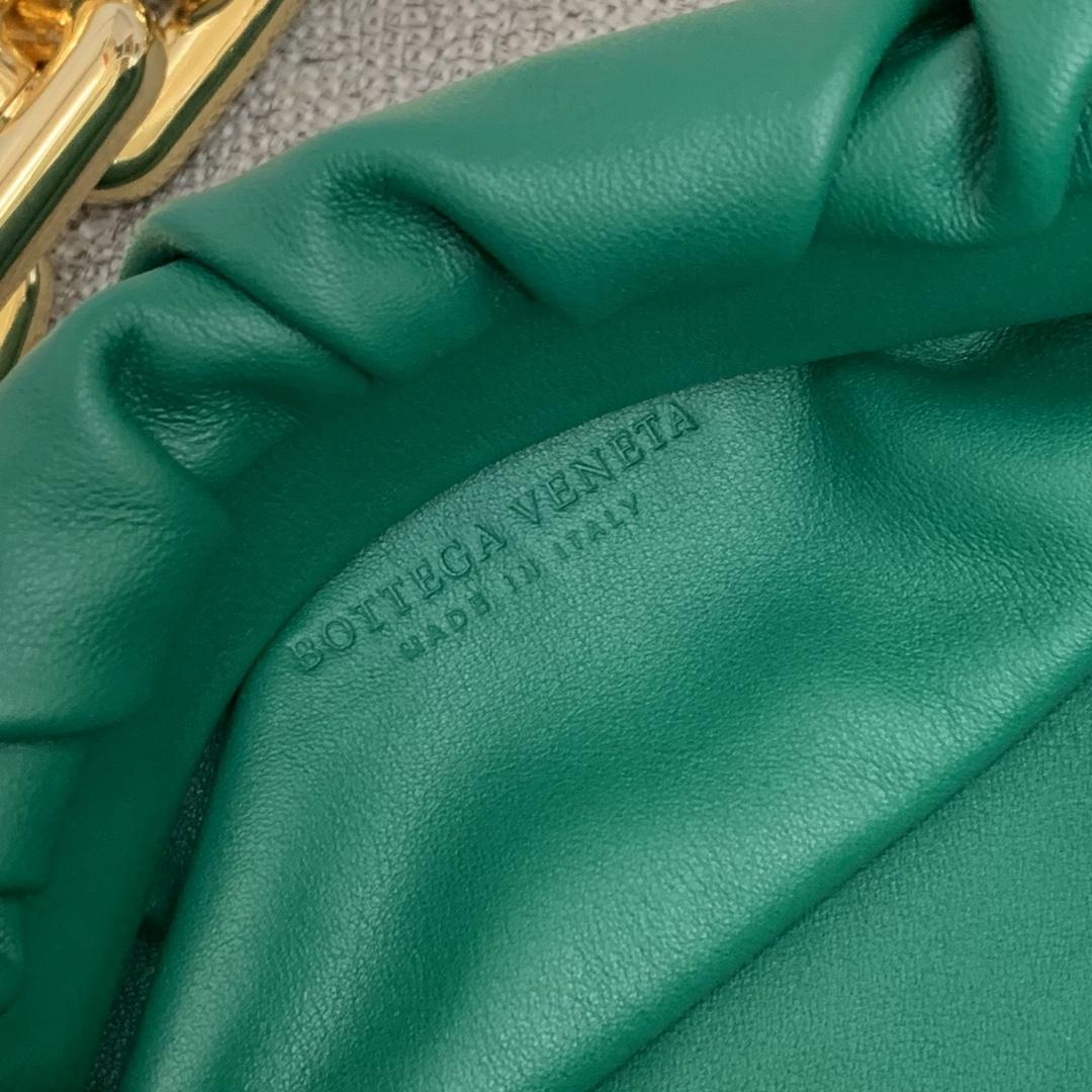 BottegaVeneta 大金链条配色云朵包 620230狂野绿 31-12-6