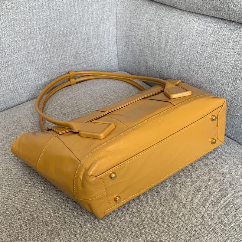 BV葆蝶家 油蜡皮质 ARCO 618464 黄色 32(袋口48)×28×12