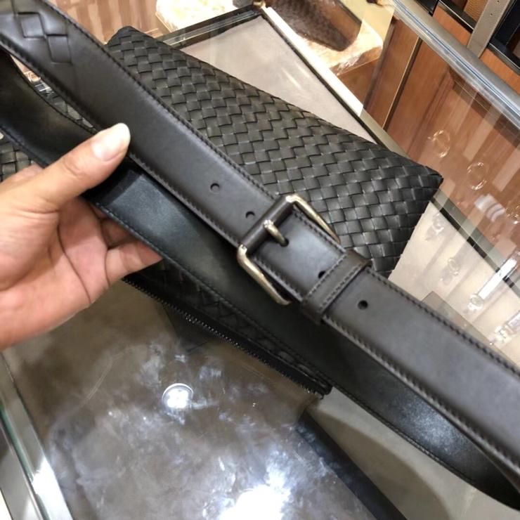 P420 BV宝碟佳 专柜同步上市 手工编织皮带 胎牛皮全手工 3.5cm宽