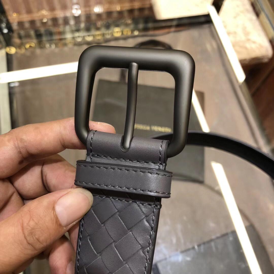 P420 BV宝碟佳 专柜同步上市 手工编织皮带 意大利柔软的胎牛皮全手工 4.0宽