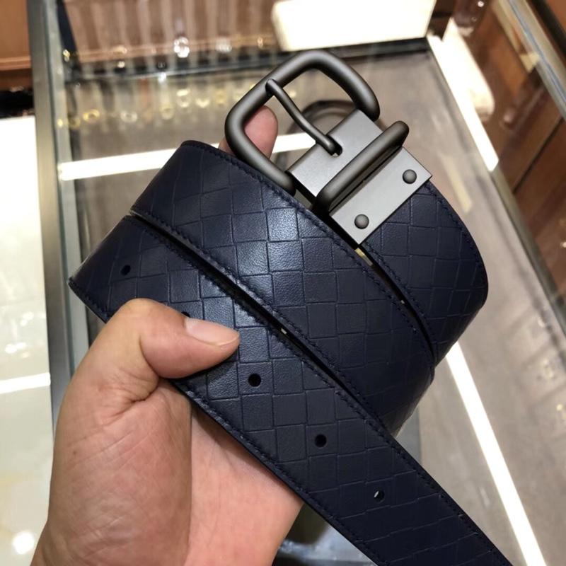 【¥530】原单进口皮 BV宝碟佳 专柜同步上市 别致的手工压花皮带 3.5cm宽